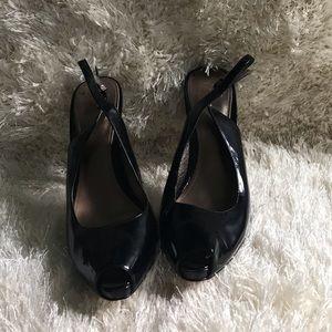 Joan & David open toe sling back heels